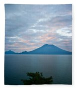 Dawn Over The Volcano 4 Fleece Blanket