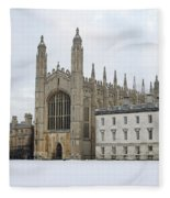 Dawn Sunshine Hit Kings College Chapel On Christmas Eve. Fleece Blanket