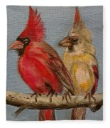 Dawn's Cardinals Fleece Blanket