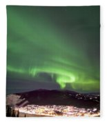 Dawson City Lights Fleece Blanket