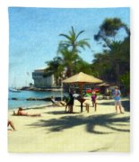 Day At The Beach Fleece Blanket