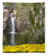 Day At The Falls Fleece Blanket