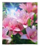 Day Light Lilies Fleece Blanket