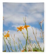 Day Lilies Look To The Sky Fleece Blanket