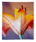 Day Lily Back Fleece Blanket