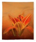Day Lily Emerging Fleece Blanket