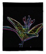Day Lily Fleece Blanket
