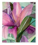 Day Lily Pink Fleece Blanket