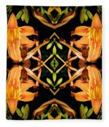 Day Lily Square Dance Fleece Blanket