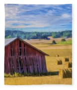 Day Of August Fleece Blanket