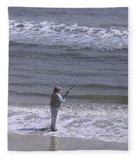 Day Of Ocean Fishing Fleece Blanket