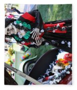Day Of The Dead Car Trunk Skeleton  Fleece Blanket