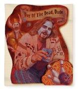 Day Of The Dead Dude Fleece Blanket