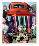 Day Of The Dead Truck Decorations  Fleece Blanket