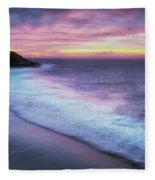 Daybreak At Caswell Bay Fleece Blanket