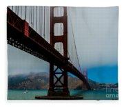 Daybreak At The Golden Gate Fleece Blanket