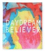 Daydream Believer- Abstract Art By Linda Woods Fleece Blanket