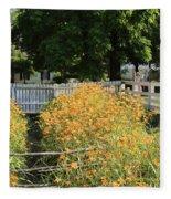 Daylilies In The Spring Fleece Blanket