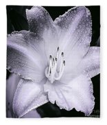 Daylily Flower With A Tint Of Purple Fleece Blanket