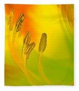 Daylily In Morning Light Fleece Blanket