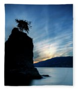 Day's End At Siwash Rock Fleece Blanket