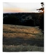 Day's End In Ten Fleece Blanket