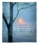 Days Of Darkness Fleece Blanket