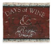 Days Of Wine And Roses Fleece Blanket