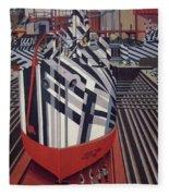 Dazzle Ships In Drydock At Liverpool Fleece Blanket
