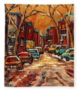 De Bullion Street Montreal Fleece Blanket