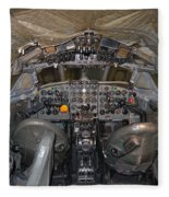 De Havilland Dh106 Comet 4 G Apdb Cockpit Full Size Poster Fleece Blanket
