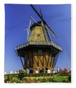 De Zwaan Windmill In Holland Fleece Blanket