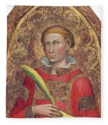 Deacon Saint, With Saint Anthony Abbot Fleece Blanket