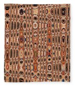 Dead Agave Stump Abstract Fleece Blanket