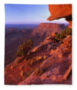 Dead Horse Point Sunset Fleece Blanket