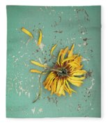 Dead Suflower Fleece Blanket