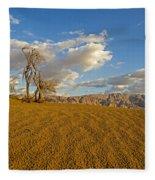 Dead Tree In The Desert  Fleece Blanket