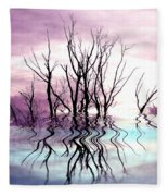Dead Trees Colored Version Fleece Blanket