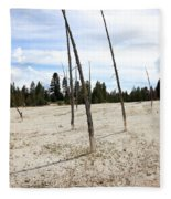 Dead Trees, Yellowstone Fleece Blanket