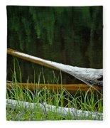 Deadwood And Pine Reflections Fleece Blanket