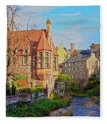 Dean Village, Edinburgh, Scotland Fleece Blanket