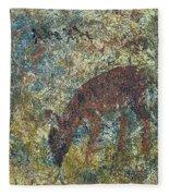 Dear Or Deer Being Hunted Fleece Blanket