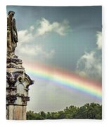 Death And A Rainbow Fleece Blanket
