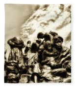 Death In The Time Of The Irish Famine Fleece Blanket