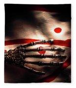 Death Metal Ai Fleece Blanket