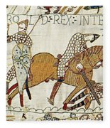 Death Of Harold, Bayeux Tapestry Fleece Blanket