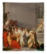 Death Of Julius Caesar Fleece Blanket