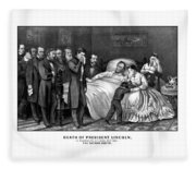 Death Of President Lincoln Fleece Blanket