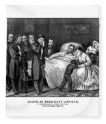 Death Of President Lincoln Fleece Blanket