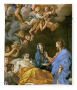Death Of Saint Joseph Fleece Blanket